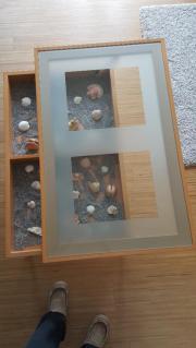 Couchtisch mit glasplatte zum dekorieren haushalt for Wohnzimmertisch quoka