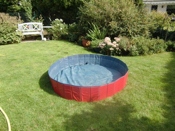 xxl 2in1 hundepool eckig rund hunde swimmingpool mit abdeckung in karlsruhe kaufen und. Black Bedroom Furniture Sets. Home Design Ideas