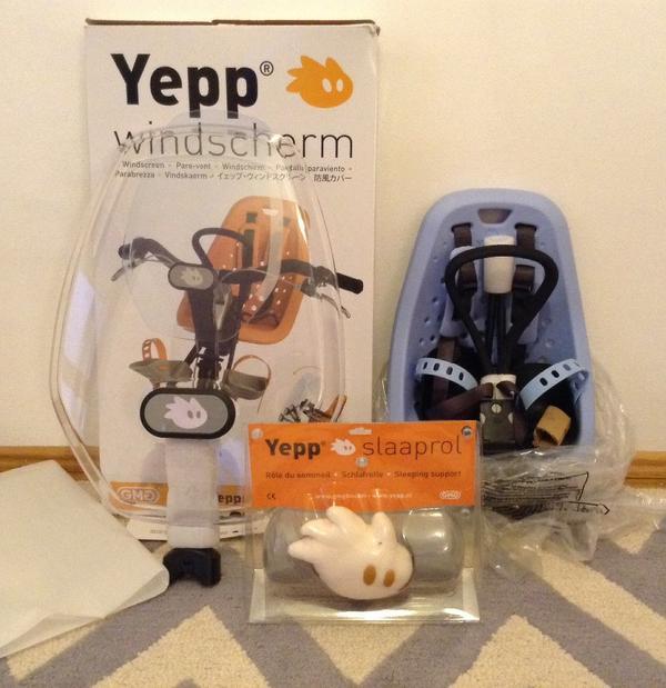 yepp mini fahrradsitz vorne inkl windschutzscheibe und. Black Bedroom Furniture Sets. Home Design Ideas