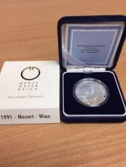 100 Schilling Silbermünze