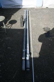 2 Fahnenstangen Stahl