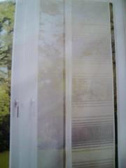 2 Stück dezente Flächenvorhänge Schiebe-Gardinen
