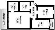 3 Zimmer, Küche,