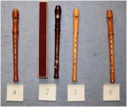 4 Holzflöten