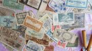 Alte Geldscheine gegen