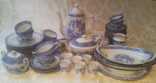 altes kaffee u teeservice 50 teile china blau v tuppack bavaria u a in hamburg geschirr. Black Bedroom Furniture Sets. Home Design Ideas