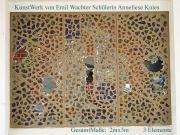 Antikart 3 Elemente GlaswerkeWand von