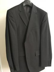 Anzug gestreift, grau