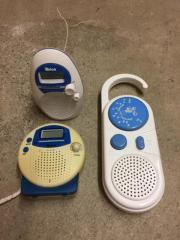 Badradios 3 Stück Wassergeschützt