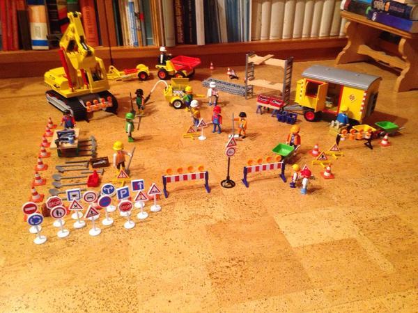 Baustellen set playmobil in münchen spielzeug lego