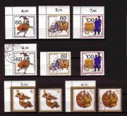 Berlin 10 Wohlfahrtsmarken von 1989