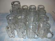 Bierkrüge Glas diverse Größen und