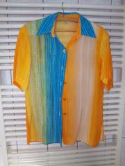 Bluse orange/bunt