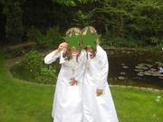 Brautjungfernkleid Kommunionkleid Gr.