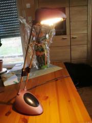 Bürolampe Schreibtischlampe Nachttischlampe rosé-metallic