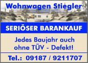 Bundesweiter Ankauf von Wohnwagen- mobile