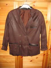 Damen-Leder-Trachten-Jacke