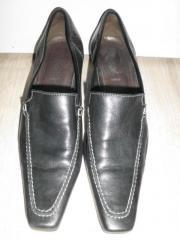 damen schuhe--gabor-fashion---weich echtleder schuhe-neuwertig-schwarz--gr37