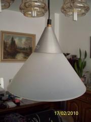Deckenlampe weiss durchsichtig mit Silber