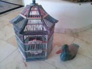 Dekorativer Vogelkäfig und
