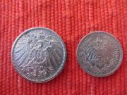 Deutsches Reich 2 Silbermünzen 1