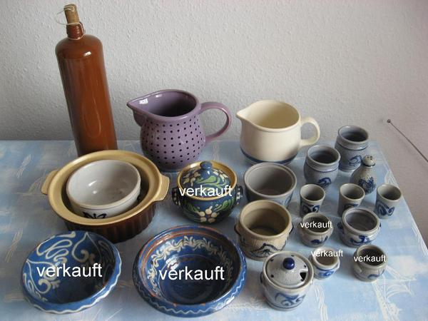 diverses altes steingut keramik geschirr in b hl. Black Bedroom Furniture Sets. Home Design Ideas