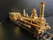 Echtdampflokomotive mit Tender,
