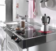 Edelstahl-Mini-Küche, Ceranfelder, Spühle und Abtropfe ... | {Miniküche mit geschirrspüler und kühlschrank 98}