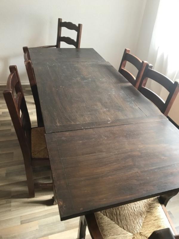 Holztisch esszimmer gebraucht kaufen nur 3 st bis 70 for Holztisch ausziehbar