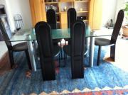 Esszimmertisch mit Echtleder Stühlen