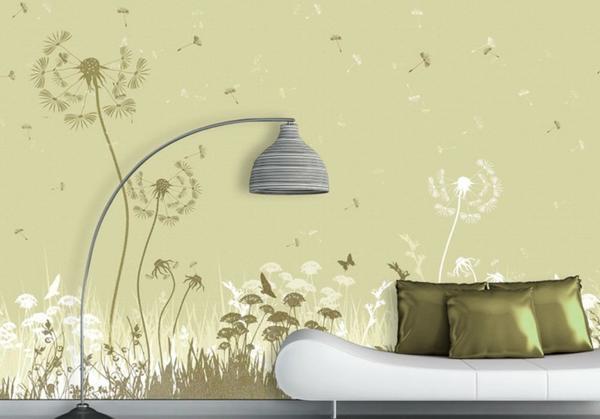 fototapete gr ser blumen natur 4x2 8 m in hard farben. Black Bedroom Furniture Sets. Home Design Ideas