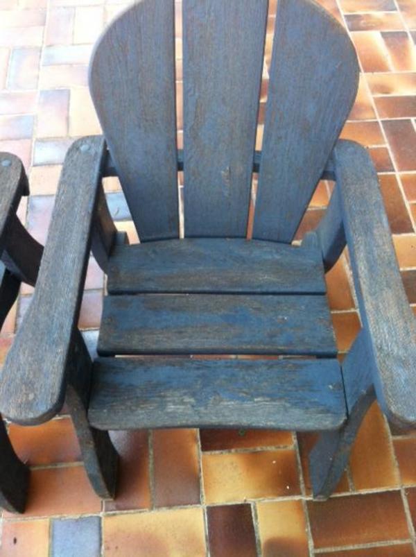 Gartenmöbel Tisch Und 4 Stühle Aus Holz Gebraucht In Windsbach