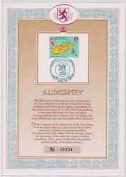 Gedenkblatt von 1983 erste Briefmarken