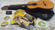 Gitarre mit Hülle,