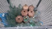 Glasflaschen Korbflaschen zu verkaufen