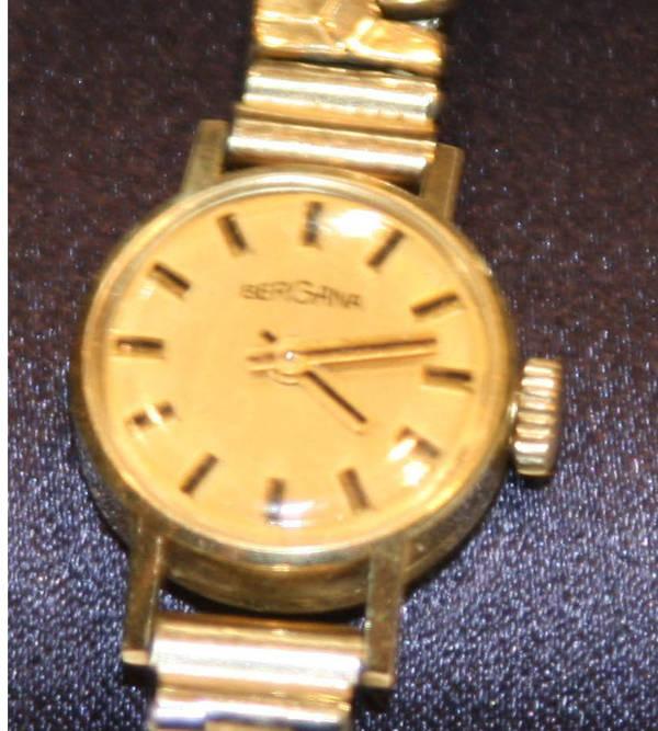 goldene armbanduhr bergama in mannheim uhren kaufen und verkaufen ber private kleinanzeigen. Black Bedroom Furniture Sets. Home Design Ideas