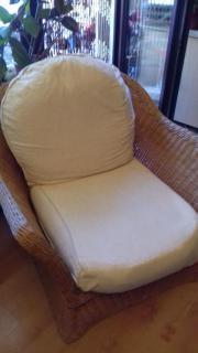 Grosser geflochtener Sessel