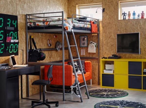 Ikea Etagenbett Svärta : Hochbett ikea svärta mit arbeitsplatte sypad kostenlos