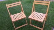 Holzklappstühle