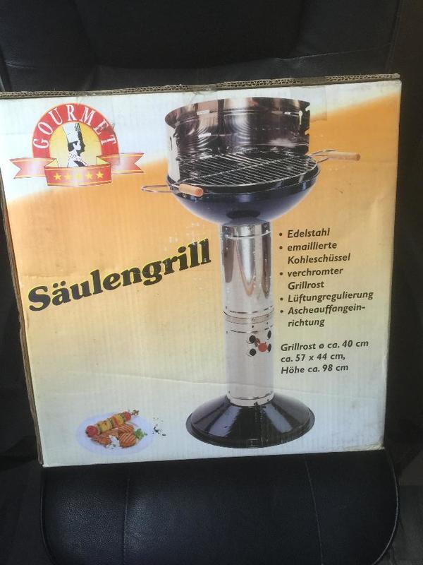 Holzkohle Gourmet Saulengrill Edelstahl In Freinsheim Sonstiges