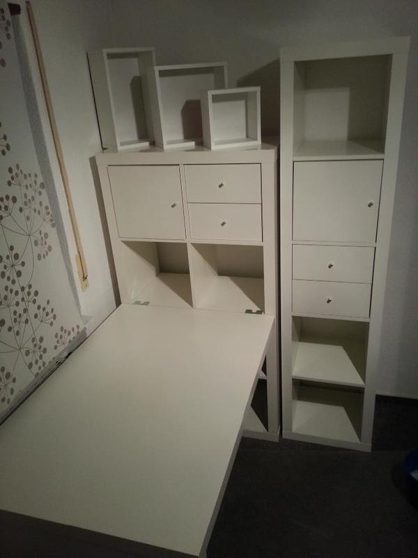 ikea kallax schreibtisch aufbewahrungssystem kombi in eppelheim kinder jugendzimmer kaufen. Black Bedroom Furniture Sets. Home Design Ideas