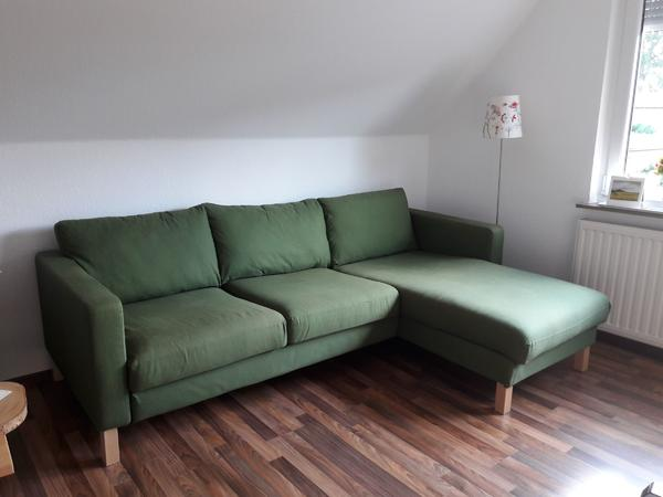 ikea karlstad sofa 3 sitzer mit recami re in gr n couch in selsingen polster sessel couch. Black Bedroom Furniture Sets. Home Design Ideas