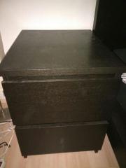 ikea malm kommode schwarz gebraucht kaufen nur 2 st bis. Black Bedroom Furniture Sets. Home Design Ideas