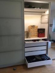 ikea pax system schiebet r paar auli sekken frostglas spiegelglas 200cm x 236cm sowie div. Black Bedroom Furniture Sets. Home Design Ideas