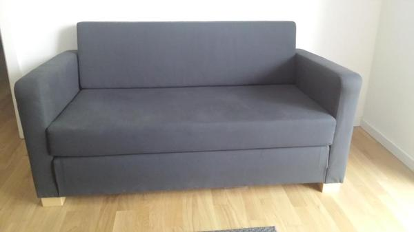 ikea solsta 2er bettsofa ransta dunkelgrau in berlin. Black Bedroom Furniture Sets. Home Design Ideas