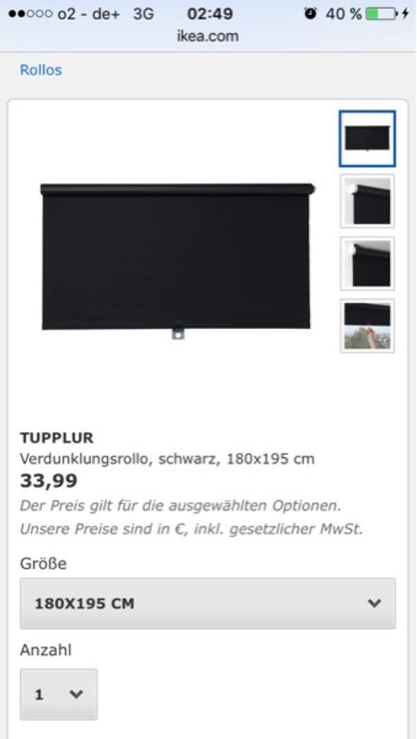 Ikea rollo awesome ikea jalousien holz x cm thumb ikea - Tupplur rollo ...
