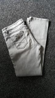 Jeans - Stretch - grau -