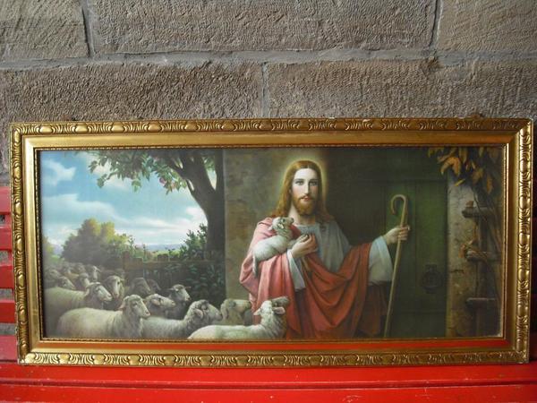 Jesusbild Heiligenbild Schlafzimmer Bild Antik