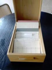 Karteikasten Holz Vintage