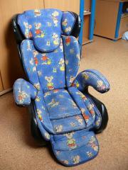 """Kinderautositz - Pohl - Biete einen Kindersitz """"Storchenmühle"""" an. Unfallfrei - Bezug am Saum etwas abgenutzt - höhenverstellbare Rückenlehne - für Kinder von 9-36kg. - Pohl"""